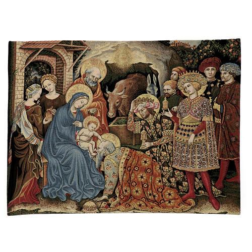 Arazzo Adorazione dei Magi di Gentile da Fabriano 60x80 cm 1