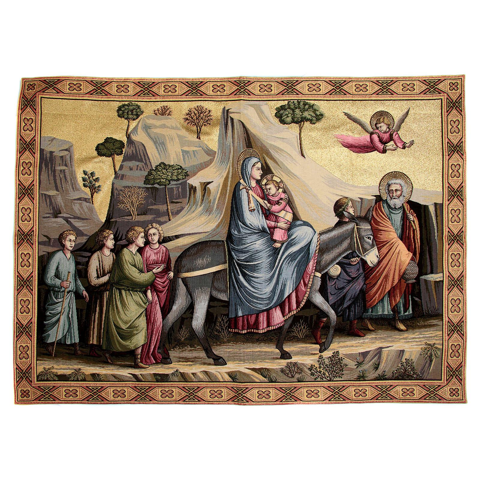 Arazzo ispirato alla Fuga in Egitto di Giotto 90x130 cm 3