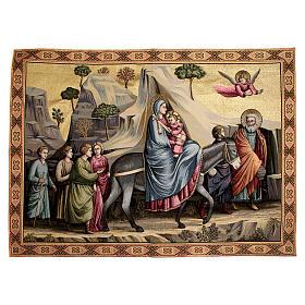 Arazzo ispirato alla Fuga in Egitto di Giotto 90x130 cm s1