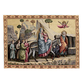 Tapestry inspired by Giotto's Flee from Egypt 65x90cm