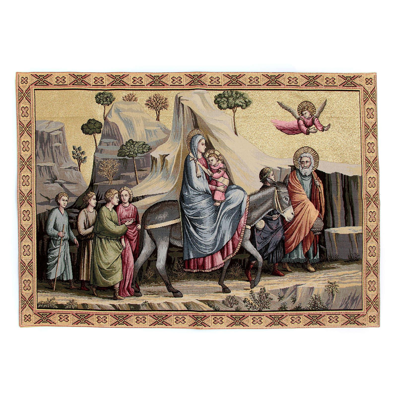 Arazzo Fuga in Egitto di Giotto 65x90 cm 3