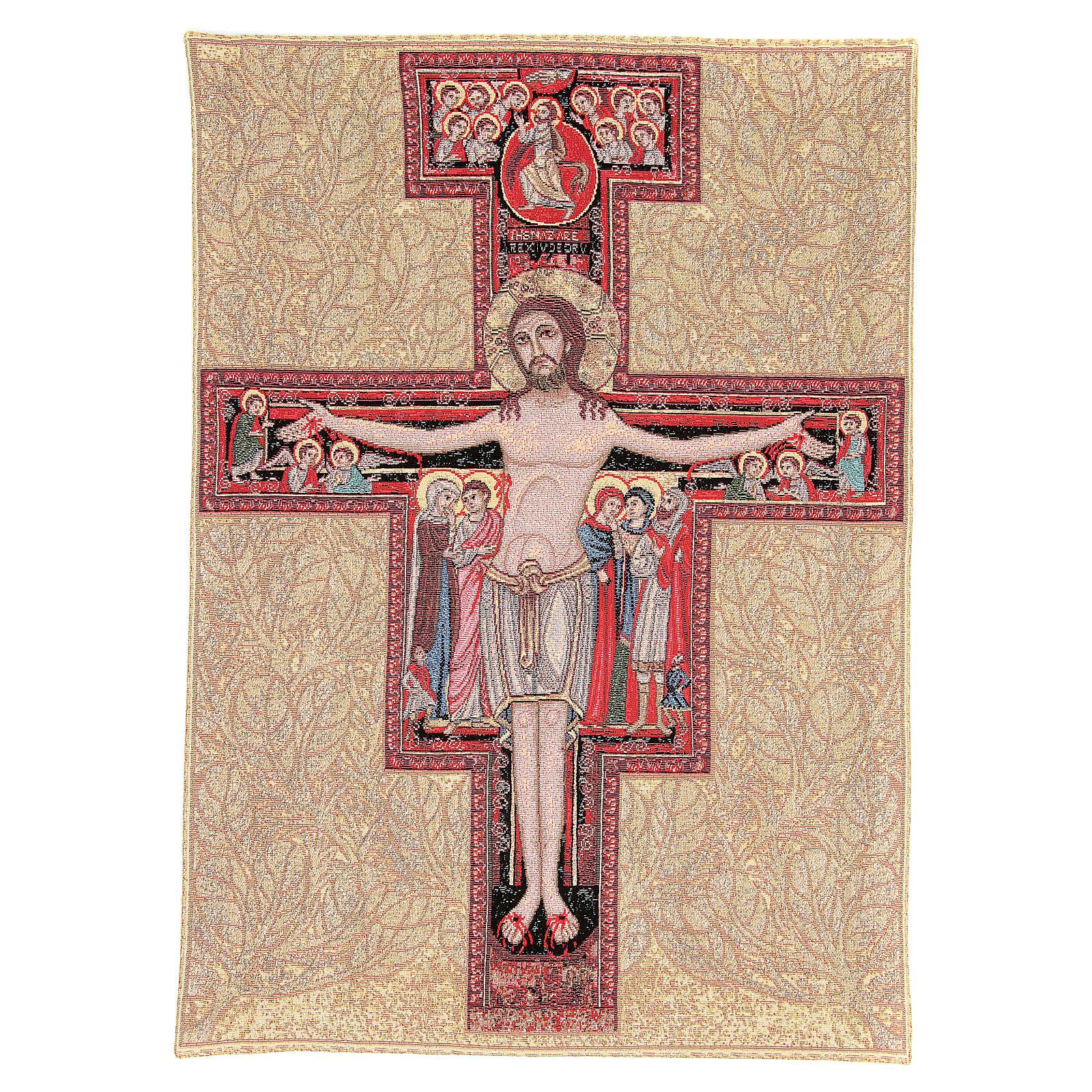 Arazzo Crocefisso San Damiano 90x65 cm 3