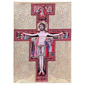 Arazzo Crocefisso San Damiano 90x65 cm s1