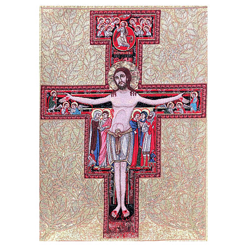 Arazzo Crocefisso San Damiano 90x65 cm 1