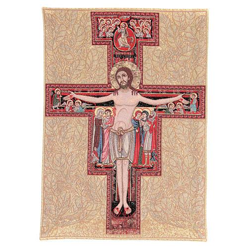 Arazzo Crocefisso San Damiano 90x65 cm 2