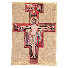 San Damiano cross tapestry measuring 65x45cm