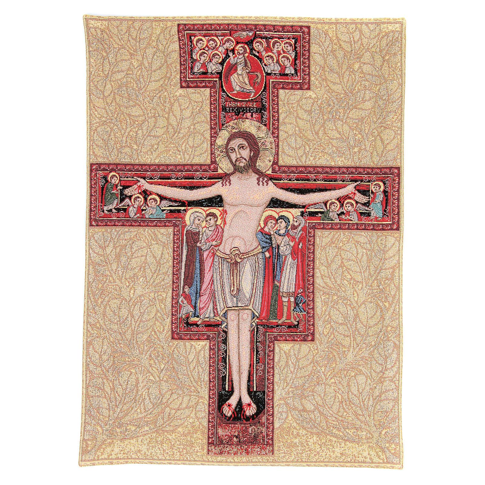 Arazzo con Crocefisso San Damiano 65x45 cm 3