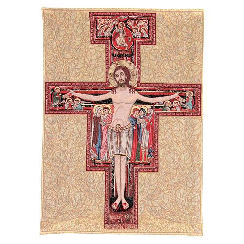 Arazzo con Crocefisso San Damiano 65x45 cm 1