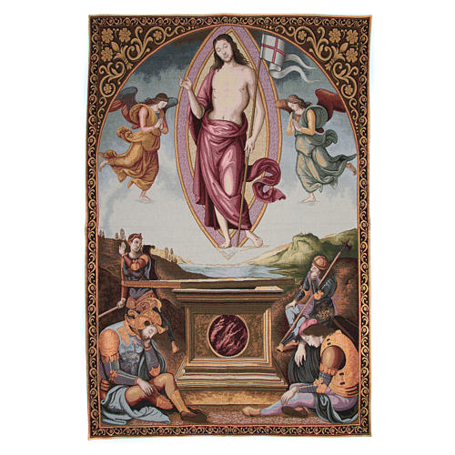 Tapestry San Francesco al Prato Resurrection by Perugino 130x95cm