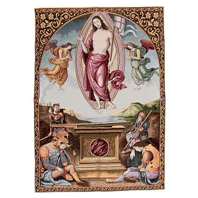 Tapestry San Francesco al Prato Resurrection by Perugino 90x65cm