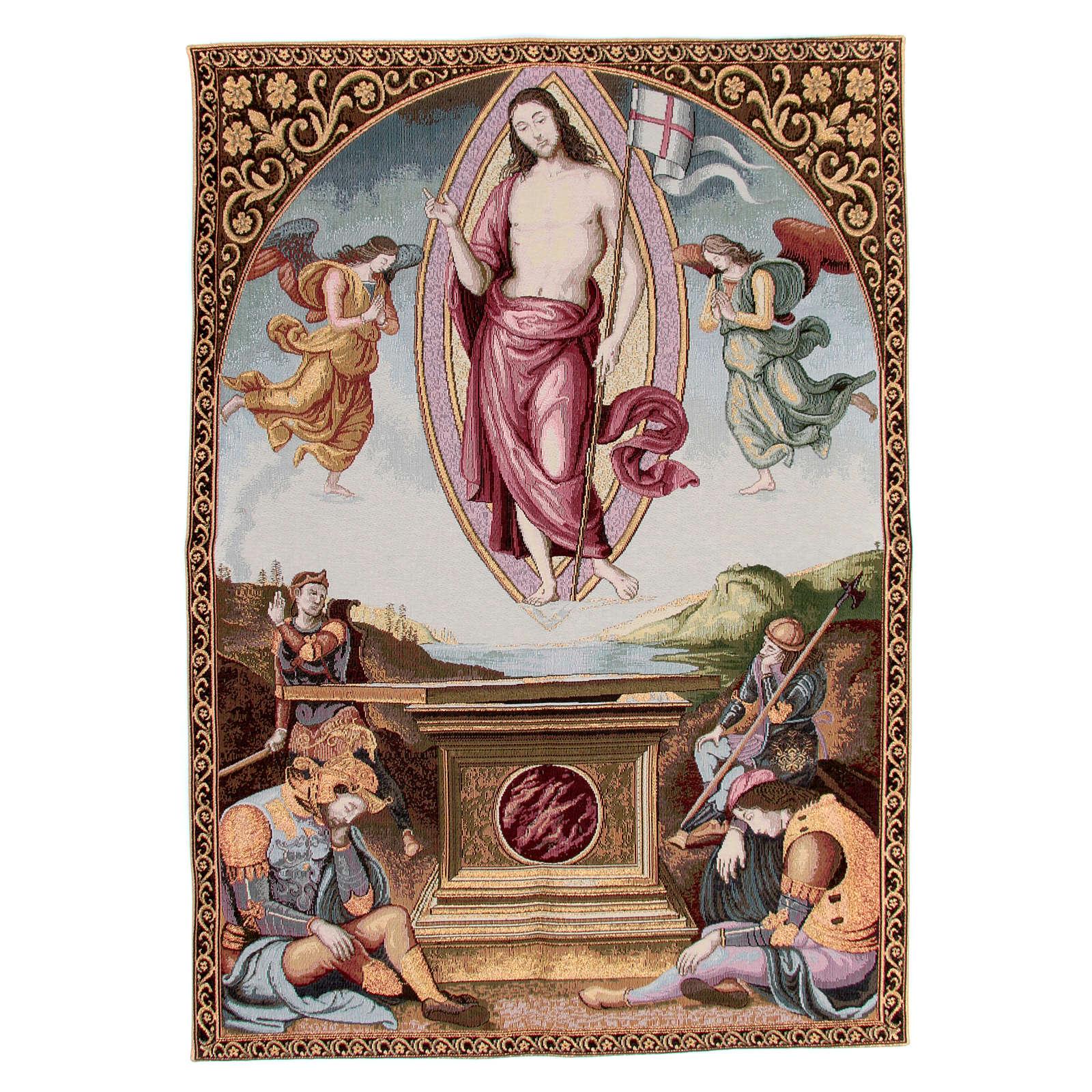 Arazzo della Resurrezione del Perugino 90x65 cm 3