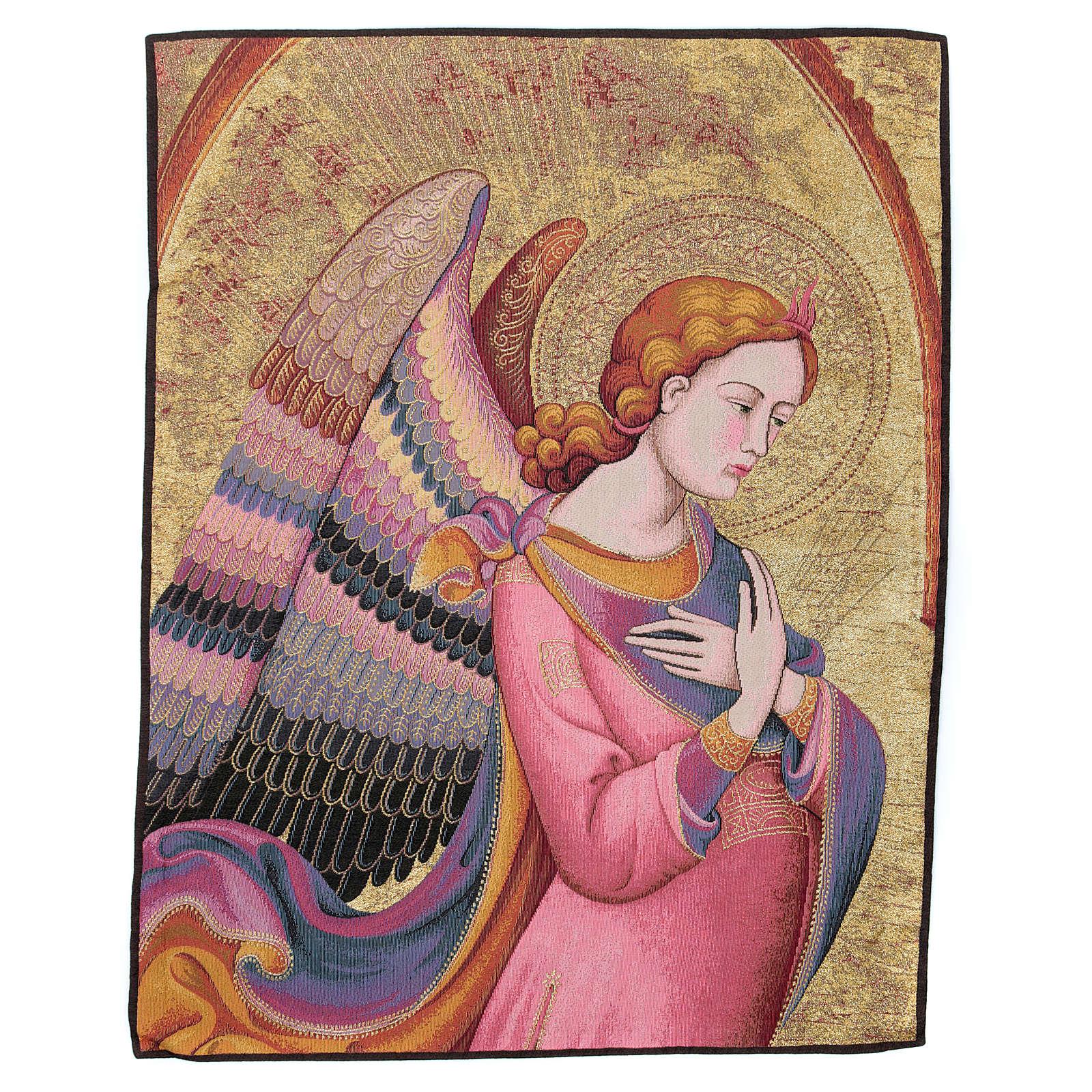 Wandteppich Engel nach Lorenzo Monaco 90x65 cm 3