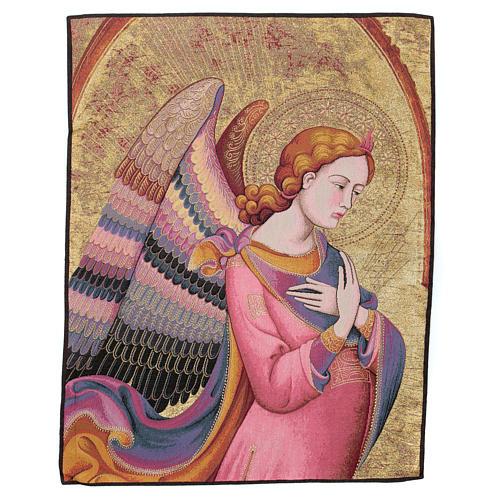 Wandteppich Engel nach Lorenzo Monaco 90x65 cm 1