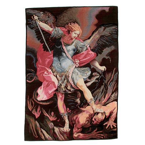Arazzo ispirato da San Michele Arcangelo di Guido Reni 90x65 cm 1