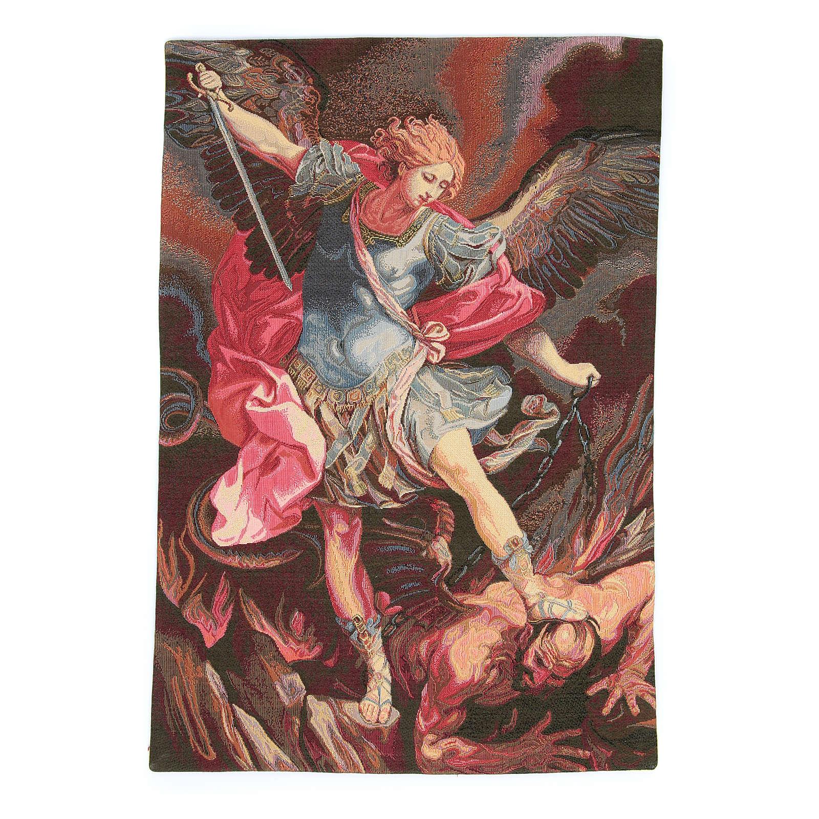 Arazzo San Michele Arcangelo di Guido Reni 50x30 cm 3