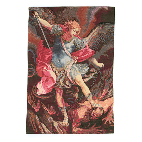 Tapestry inspired by Guido Reni's St. Michael Archangel 50x30cm