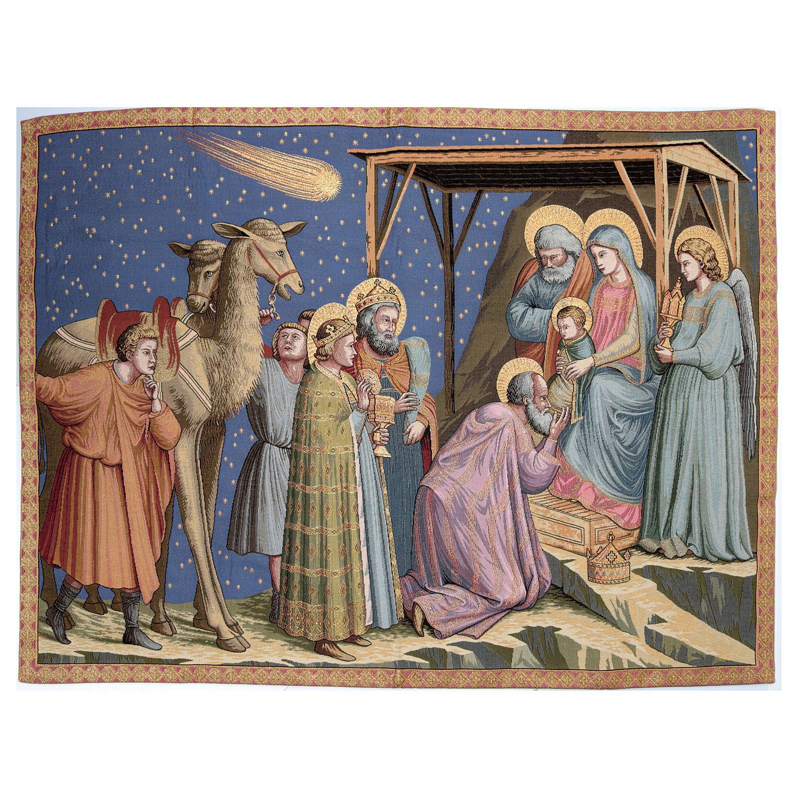 Arazzo ispirato Adorazione di Giotto 95x130 cm 3