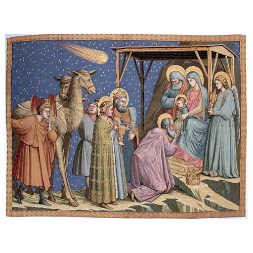 Arazzo ispirato Adorazione di Giotto 95x130 cm 1