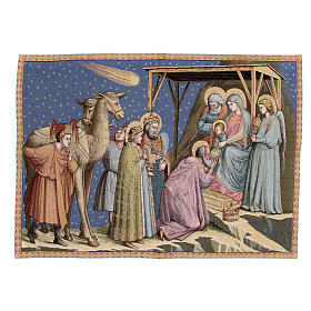 Tapestry inspired by Giotto's Adoration 65x90cm