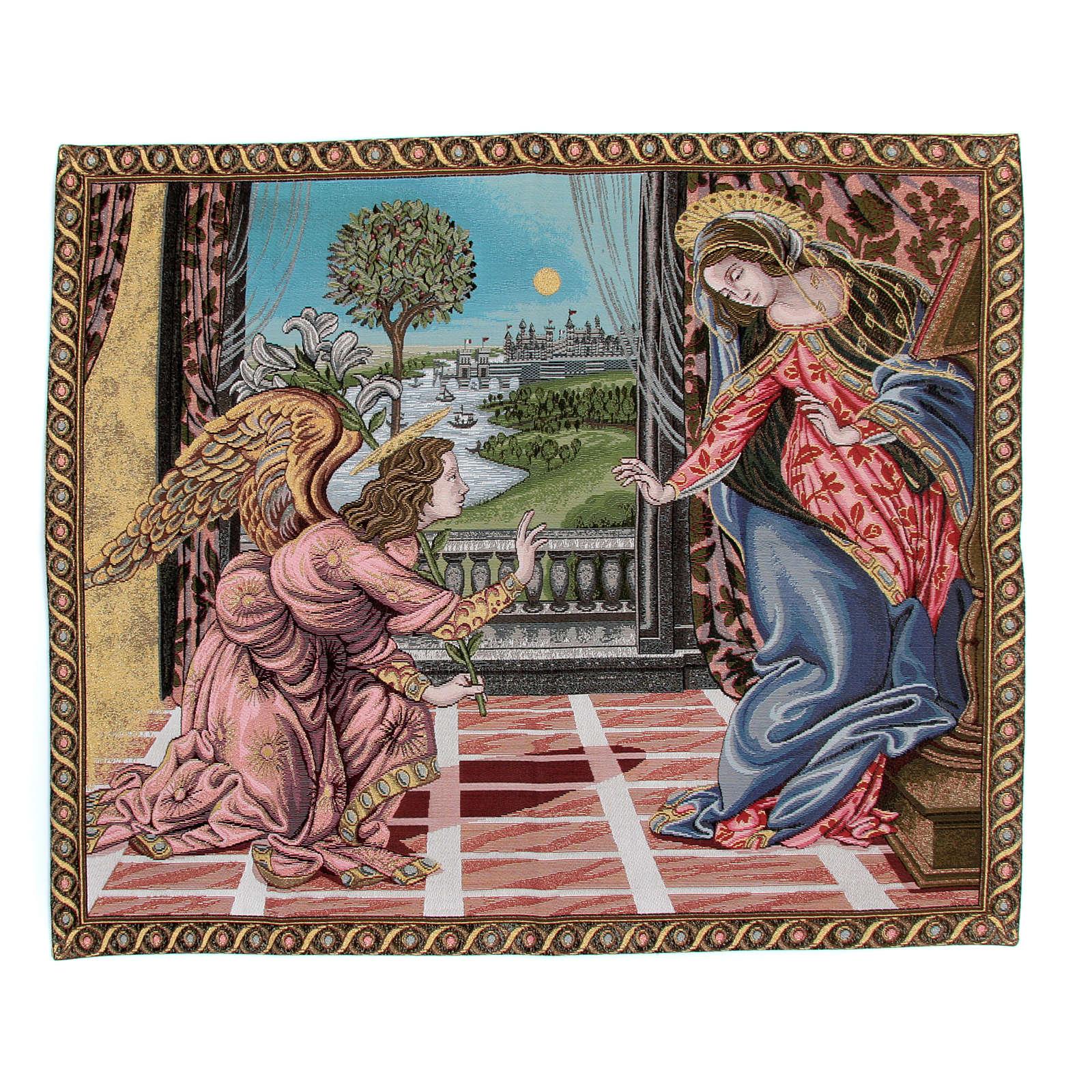 Arazzo Annunciazione di Sandro Botticelli 65x75 cm 3
