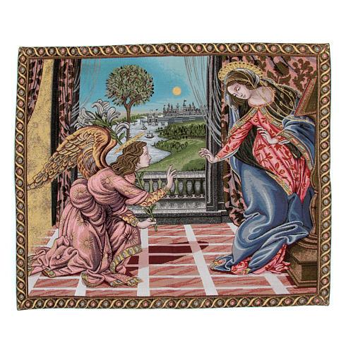 Arazzo Annunciazione di Sandro Botticelli 65x75 cm 1