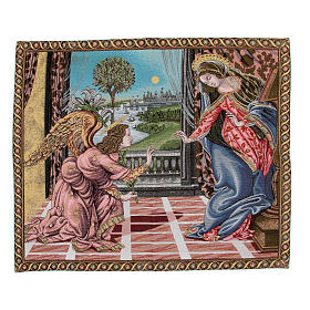 Annunciation by Sandro Botticelli tapestry 65x75cm s1