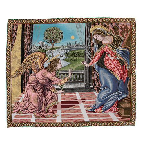 Annunciation by Sandro Botticelli tapestry 65x75cm 1