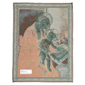 Arazzo ispirato dalla Madonna Del Libro di Sandro Botticelli 65x50 cm s2