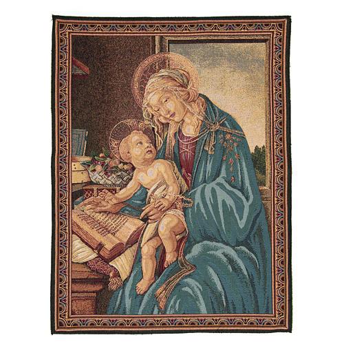 Arazzo ispirato dalla Madonna Del Libro di Sandro Botticelli 65x50 cm 1