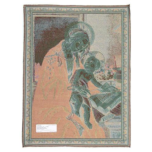 Arazzo ispirato dalla Madonna Del Libro di Sandro Botticelli 65x50 cm 2