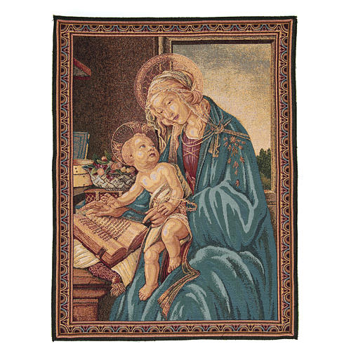 Tapestry inspired by Botticelli's Madonna of the Book 65x50cm