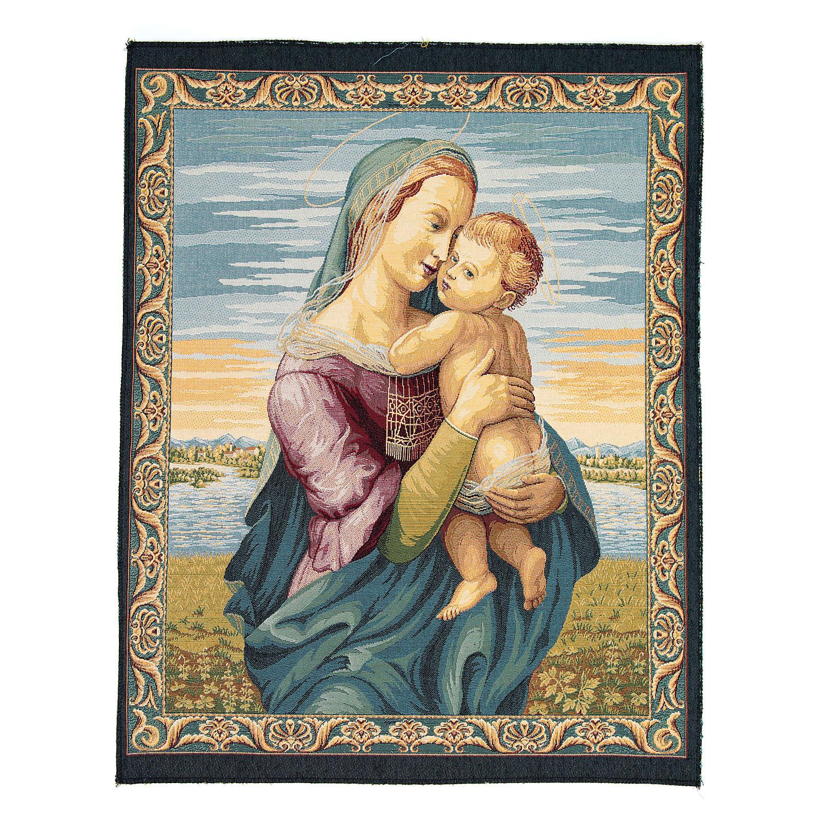 Tapiz Madonna de la Casa Tempi Raffaello Sanzio 65 x 50 cm 3