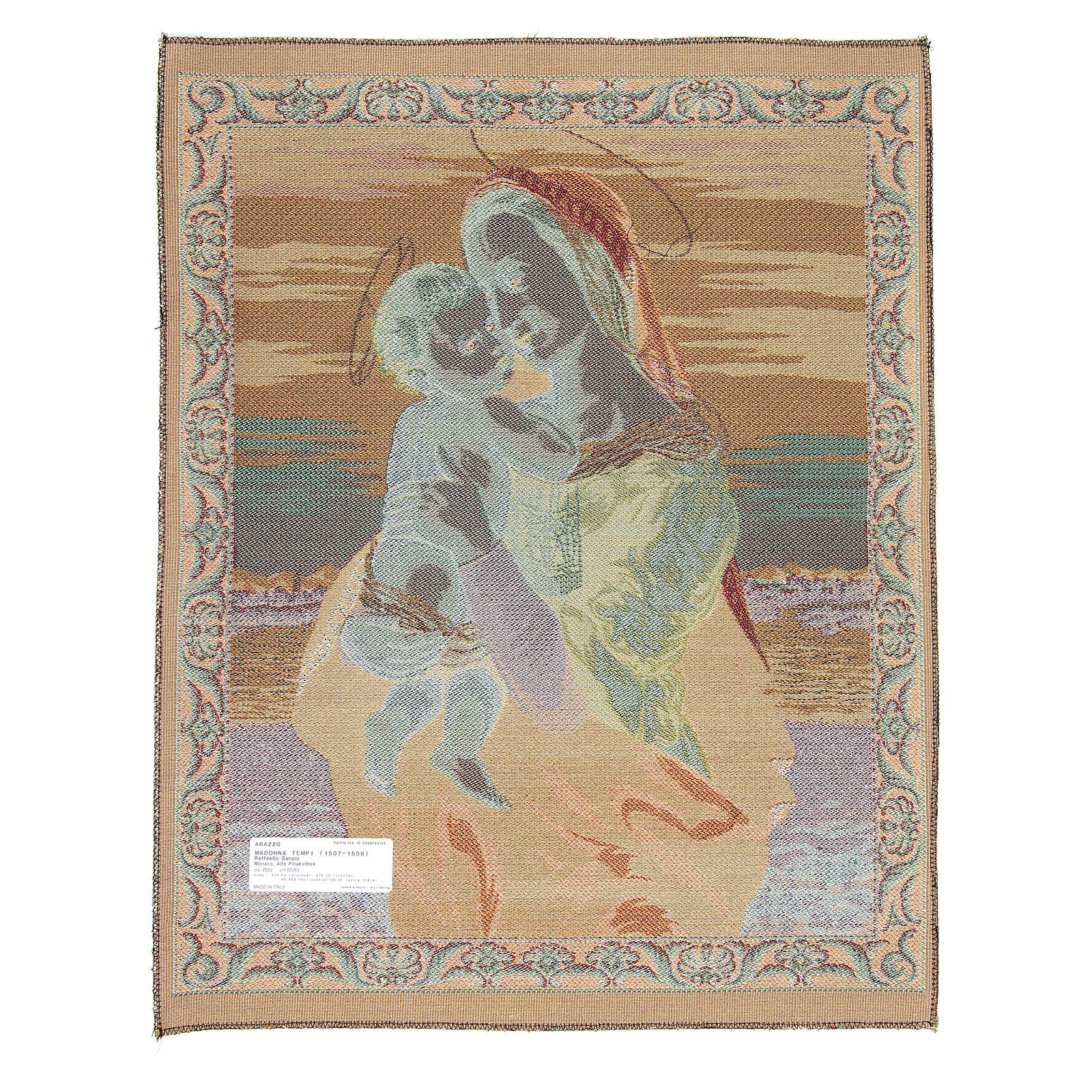 Arazzo Madonna Tempi di Raffaello Sanzio 65x50 cm 3