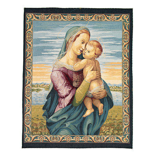 Tempi Madonna by Raphael tapestry 65x50cm 1