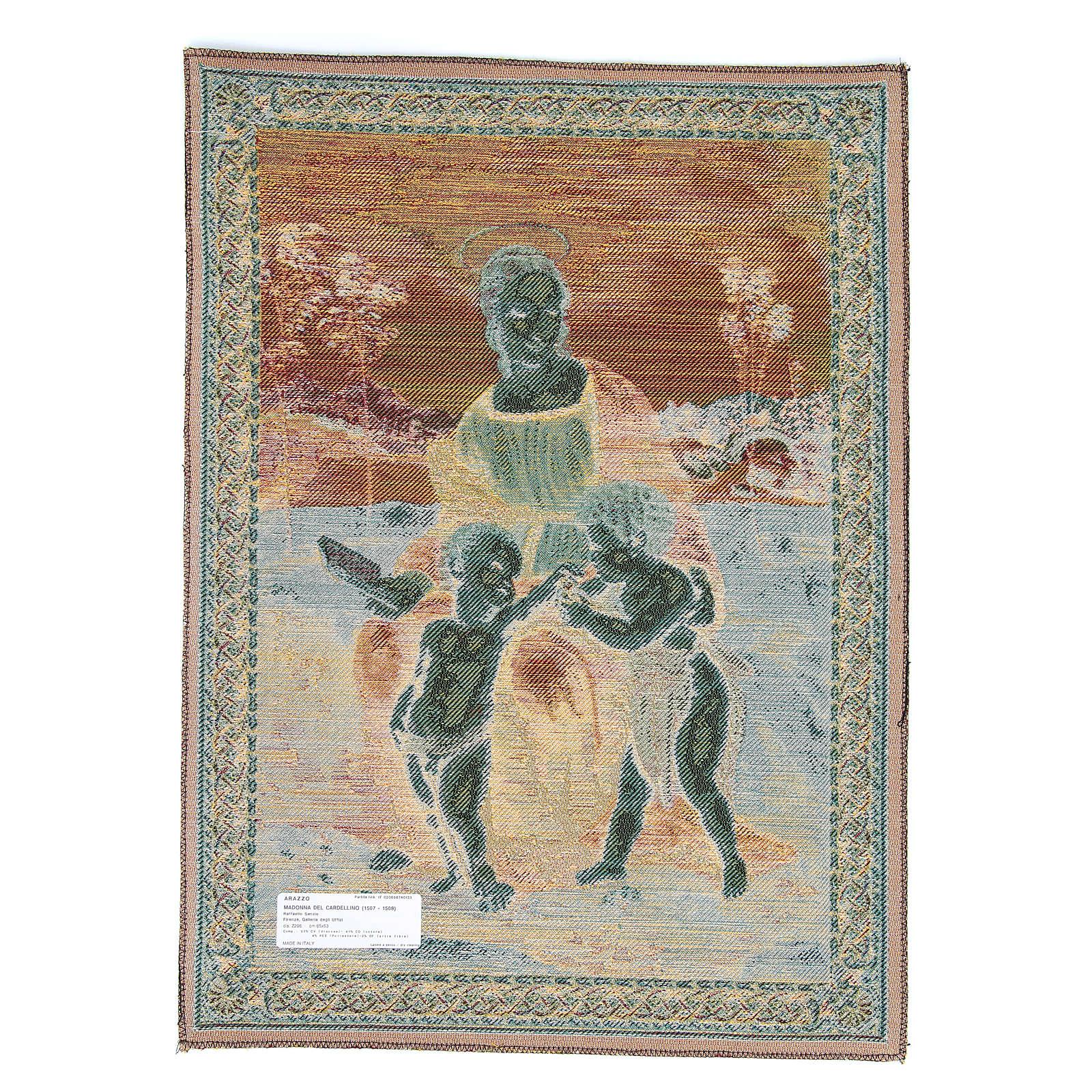 Arazzo Madonna Del Cardellino di Raffaello Sanzio 65x50 cm 3