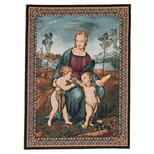 Madonna of the Goldfinch by Raphael tapestry 65x50cm