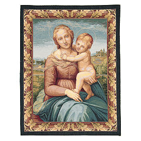 Small Cowper Madonna by Raphael tapestry 65x50cm