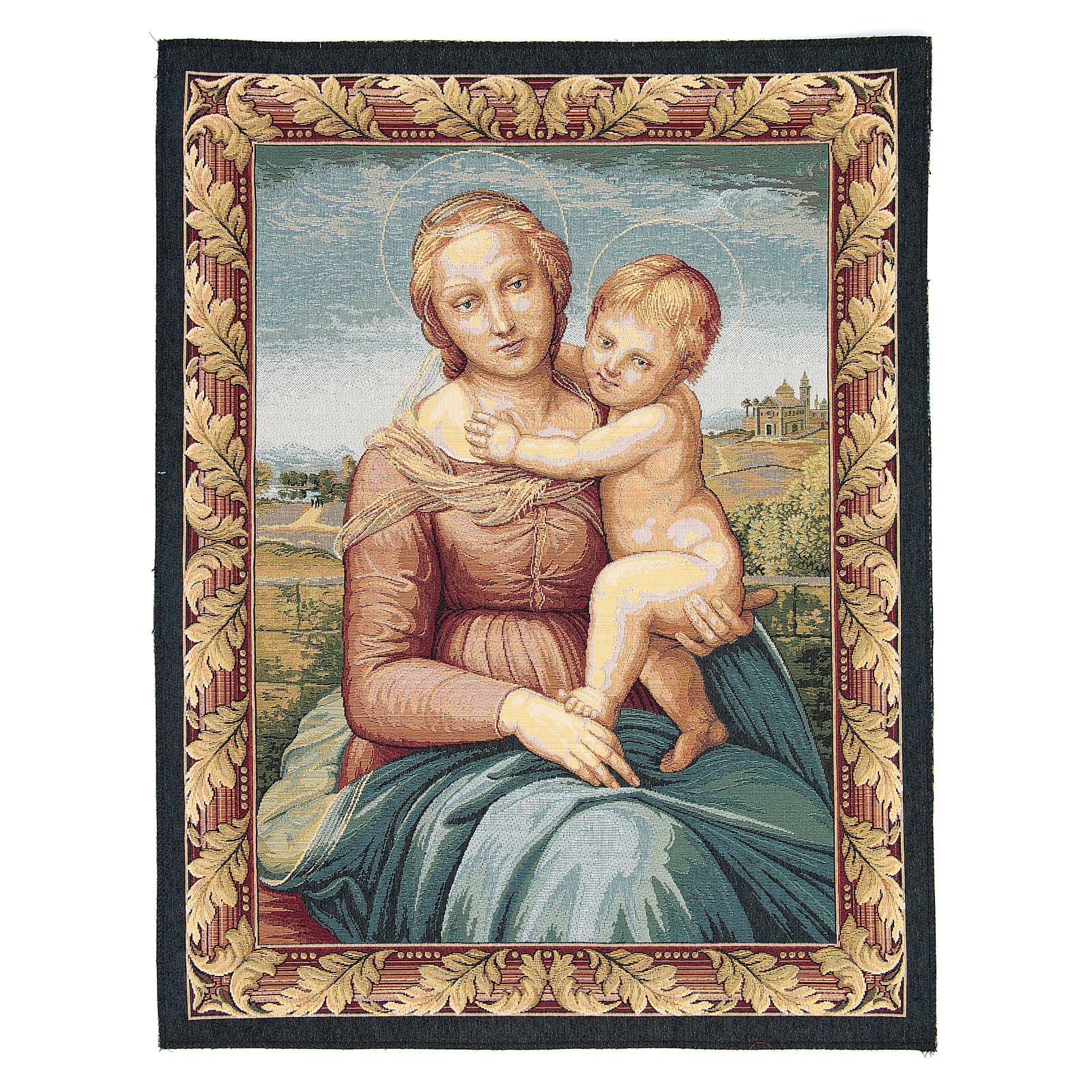 Arazzo con immagine della Madonna di Cowper di Raffaello Sanzio 65x50 cm 3