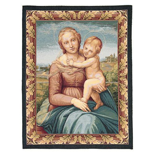 Arazzo con immagine della Madonna di Cowper di Raffaello Sanzio 65x50 cm 1