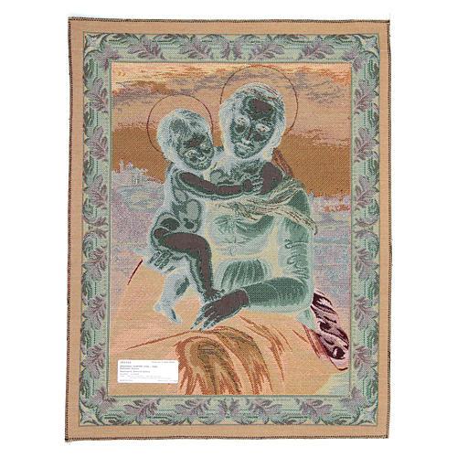 Arazzo con immagine della Madonna di Cowper di Raffaello Sanzio 65x50 cm 2