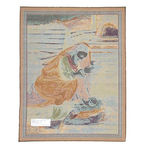 Arazzo Madonna che adora il Bambino del Correggio 65x50 cm 2