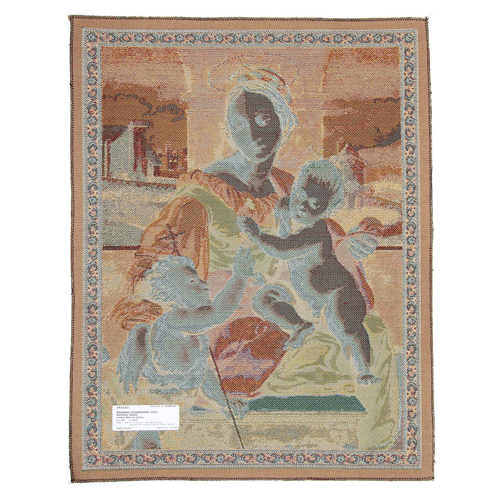 Arazzo Madonna Aldobrandini di Raffaello Sanzio 65x50 cm 3