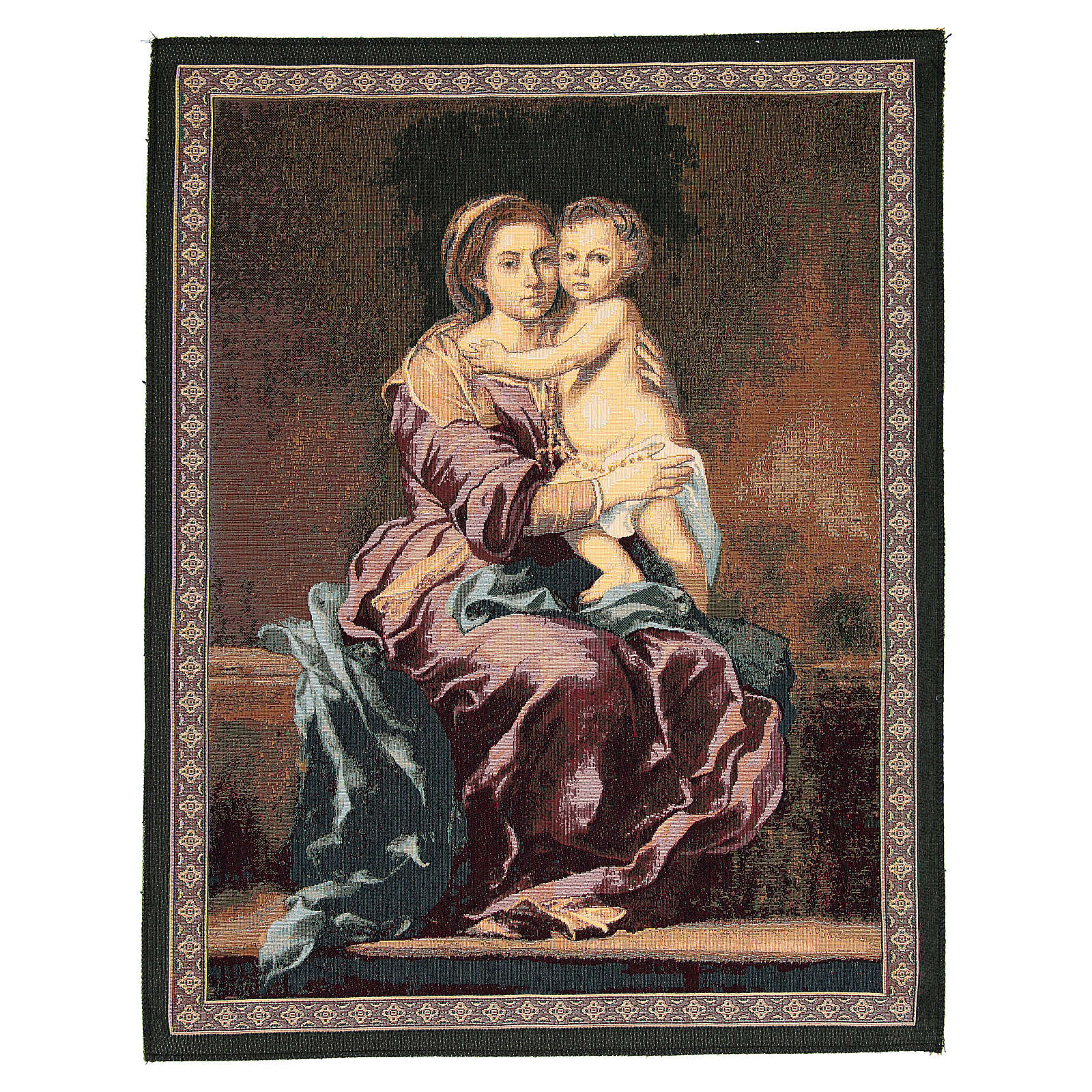 Madonna of the Rosary by Bartolomé Esteban Murillo tapestry 65x50cm 3
