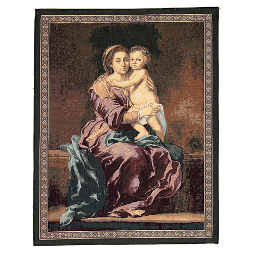 Madonna of the Rosary by Bartolomé Esteban Murillo tapestry 65x50cm 1