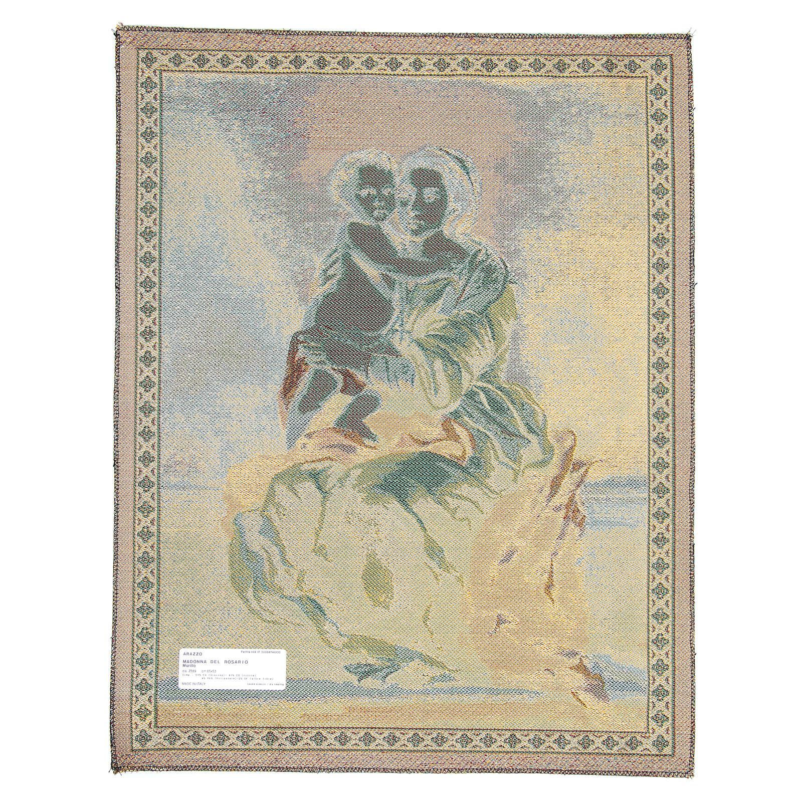 Arazzo Madonna Del Rosario di Bartolomé Esteban Pérez Murillo 65x50 cm 3