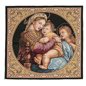 Arazzo Madonna della Seggiola di Raffaello Sanzio 65x65 cm s1