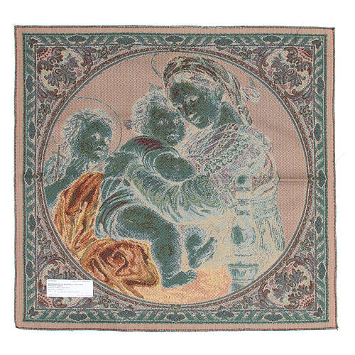 Arazzo Madonna della Seggiola di Raffaello Sanzio 65x65 cm 2