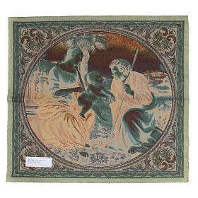 Gobelin zainspirowany Świętą Rodziną z Palmą Raffaella Sanzio 65x65 cm s2