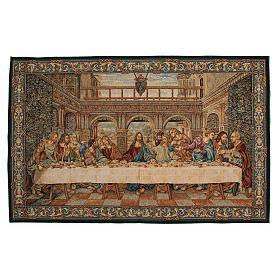 Arazzo ispirato all'Ultima Cena di Leonardo da Vinci 65x110 cm s1