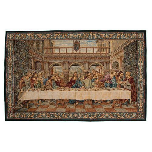Arazzo ispirato all'Ultima Cena di Leonardo da Vinci 65x110 cm 1